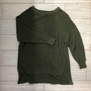 Express Hunter Green Cableknit Sweater